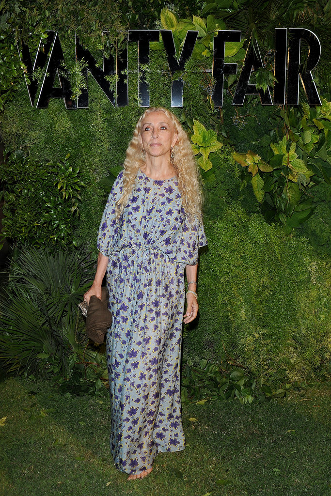 Franca Sozzani took a floral spin for the Venice Film Festival's Vanity Fair soiree.
