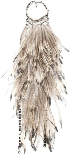 Clemmie Watson feather halter necklace