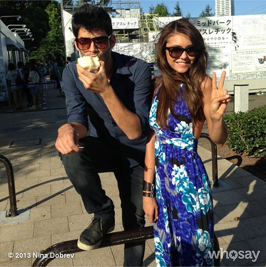 Nina Dobrev went bright for the last week of Summer.  Source: Instagram user ninadobrev