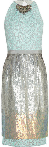 Matthew Williamson Sequined organza dress