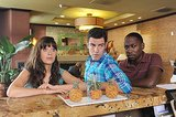 Zooey Deschanel, Max Greenfield, and Lamorne Morris on New Girl's season premiere.
