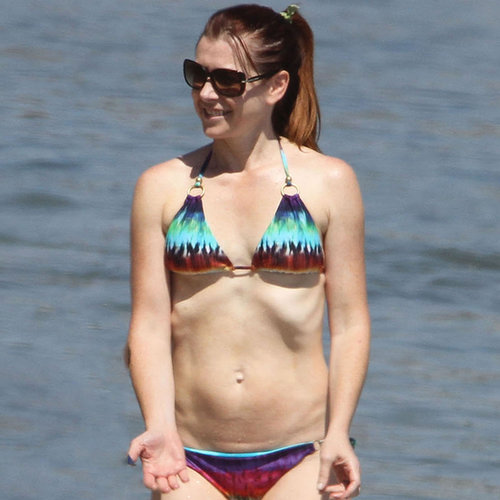 Alyson Hannigan in Bikini at Catalina Island