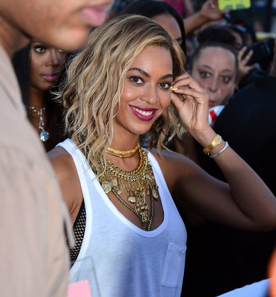Beyoncé switched things up yet again and started wearing an A-line bob soon after debuting her daring pixie cut.