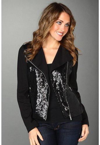 Calvin Klein - Moto Sequin Jacket (Black) - Apparel