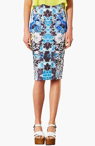 Topshop Graphic Print Tube Skirt