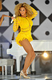 Beyoncé Knowles wore a crocheted Julien Macdonald number for her June 2011 Good Morning America show.