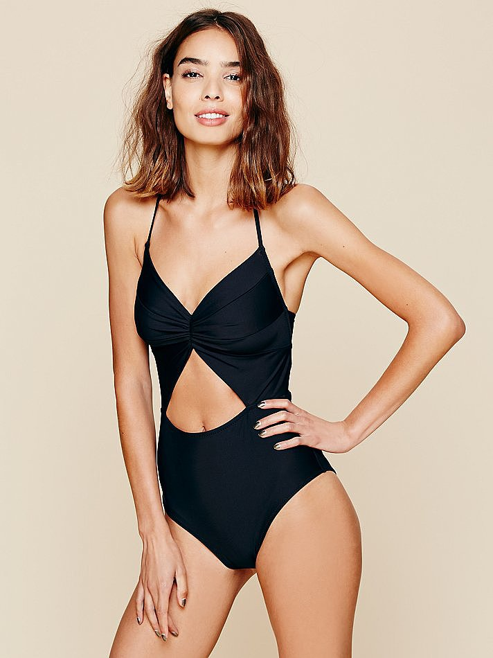 This swimsuit is a good option for girls who are used to bikinis and making the slow transition to a one-piece (like me!). The cut is super-flattering and the peek-a-boo cut out effect is as adorable as it is sexy. —Marisa, POPSUGAR Australia publisher. One-piece, $269, Free People.