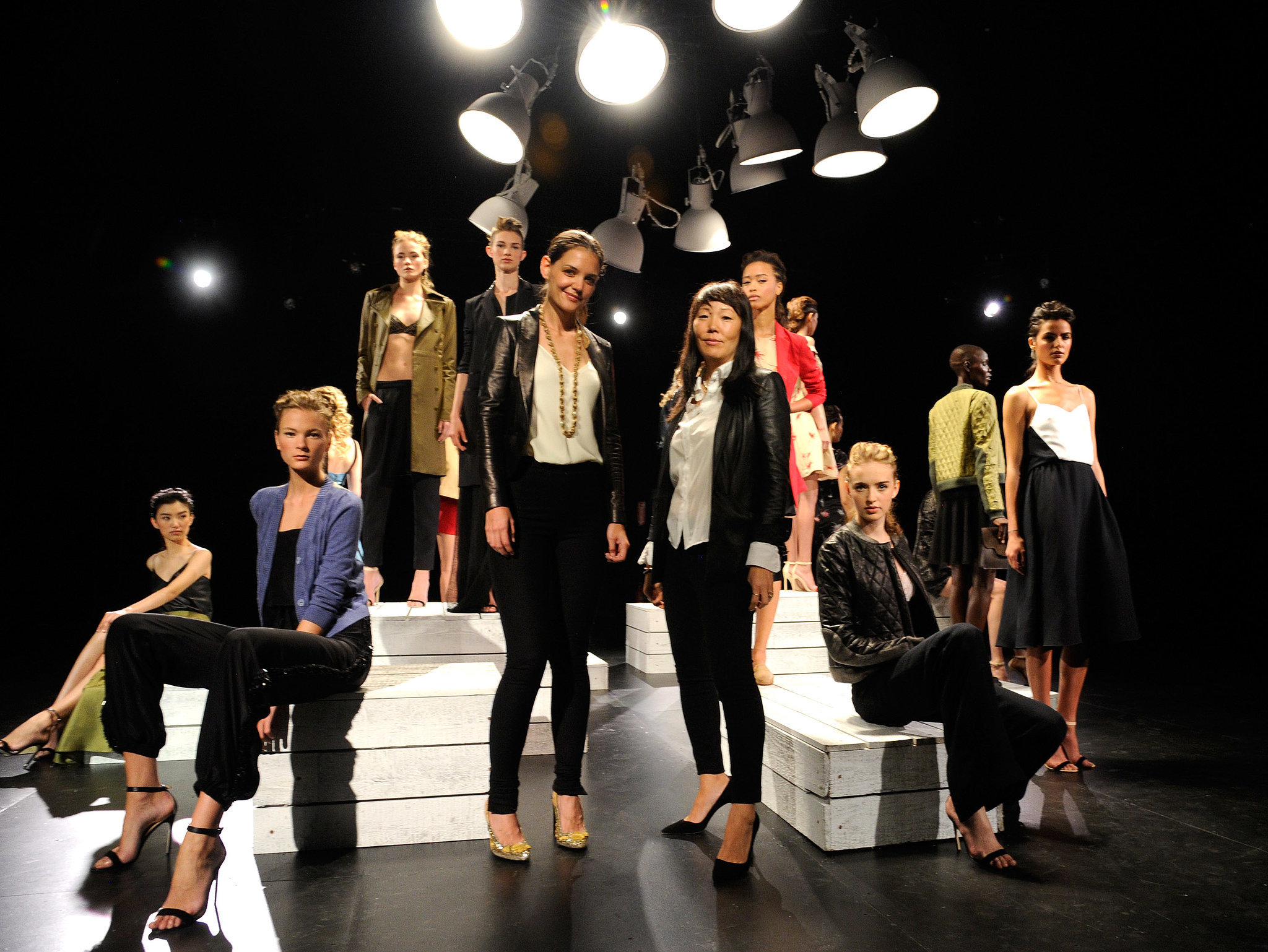 Katie Holmes presented her collection, Holmes & Yang, for the first time at NYFW in September 2012.