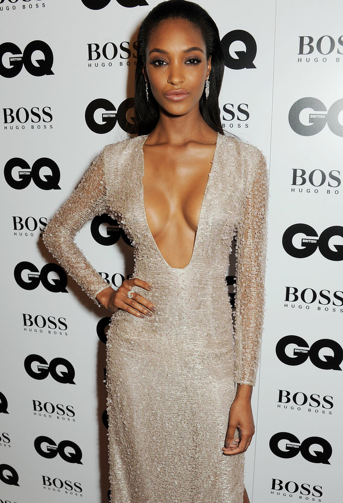 Jourdan Dunn went for full-on glamour with a sleek blowout and a subtle smoky eye.