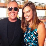 Hilary Swank was on hand to present designer Michael Kors with an award during a luncheon at FIT. Source: Instagram user alicialquarles