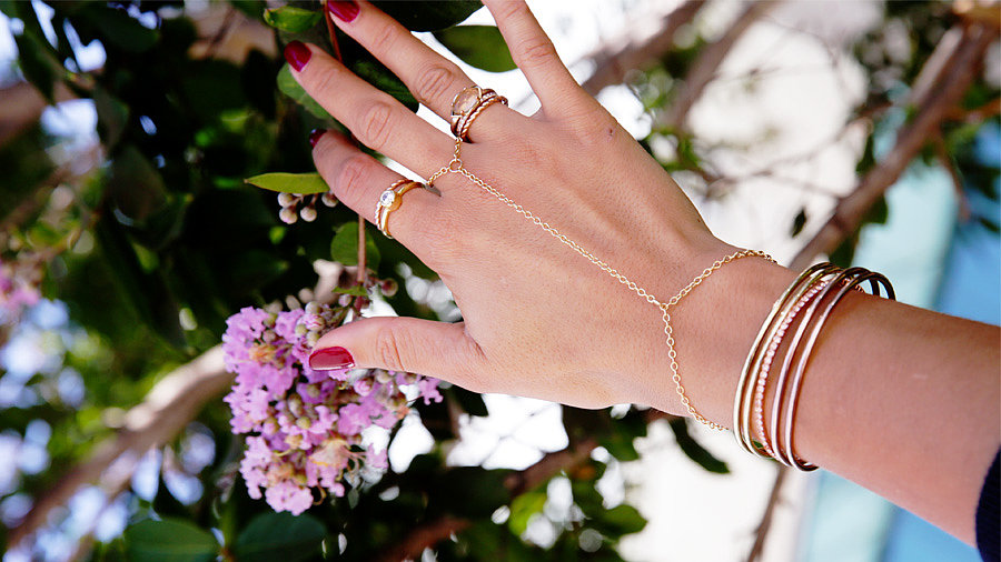 DIY: Delicate Gold Hand Jewelry
