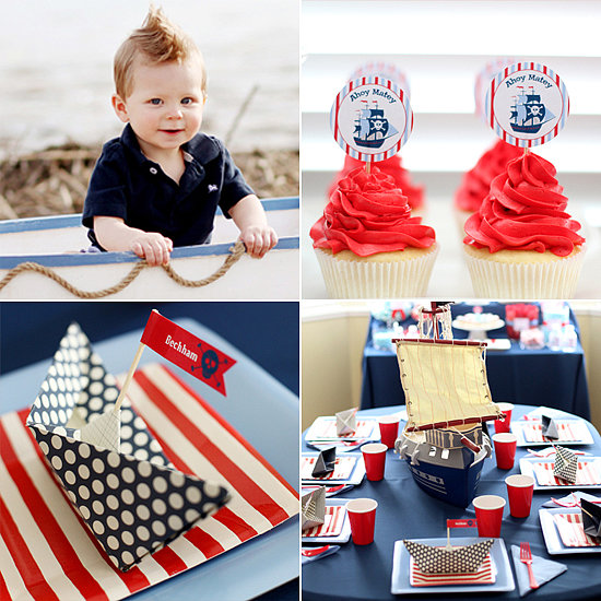 Nautical Pirate Ship Birthday Party