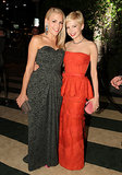 Best friends Michelle Williams and Busy Philipps posed together at the 2012 Vanity Fair Oscar Party in LA.