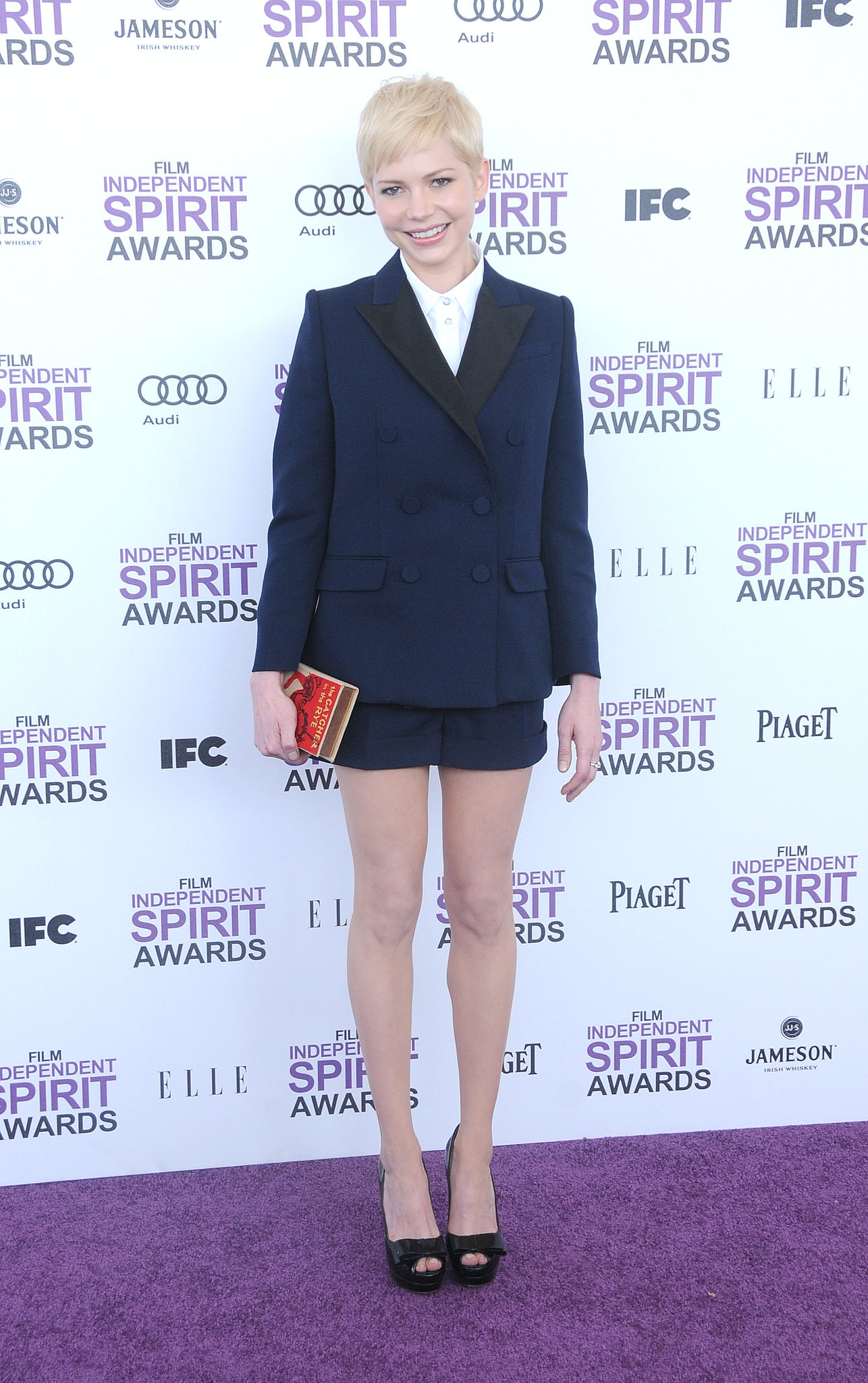 Michelle Williams wore an adorable outfit at the 2012 Film Independent Spirit Awards in LA.