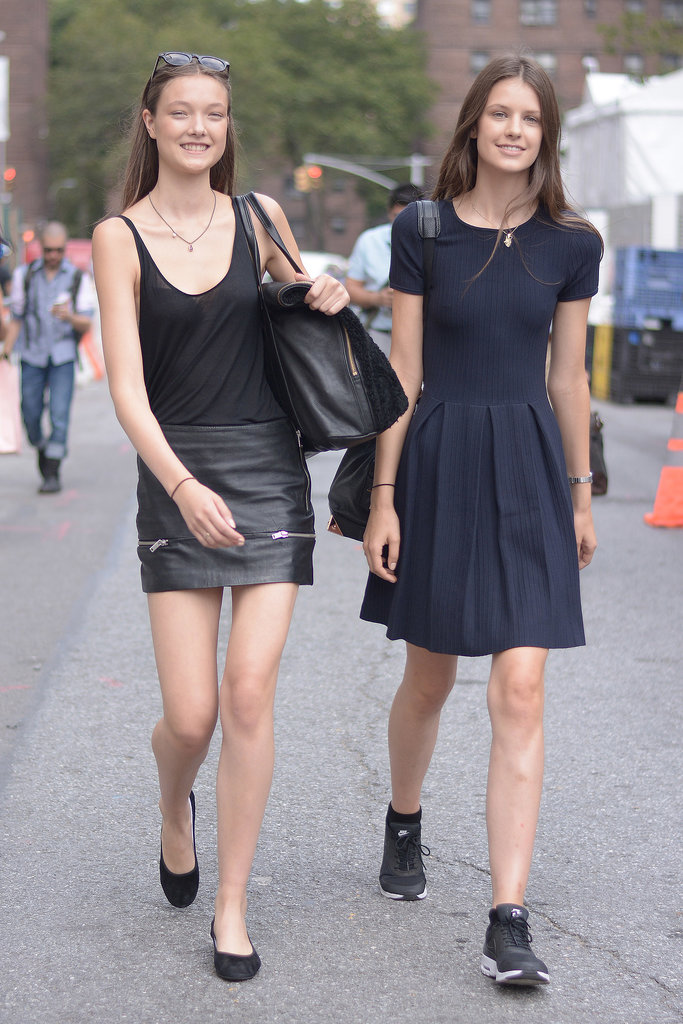 There's about a million ways to wear all black, but we happen to love these two.
