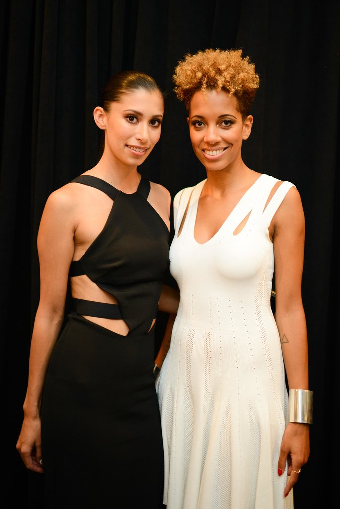 The Cushnie et Ochs team, Carly Cushnie and Michelle Ochs, wore their designs flawlessly backstage before their show.