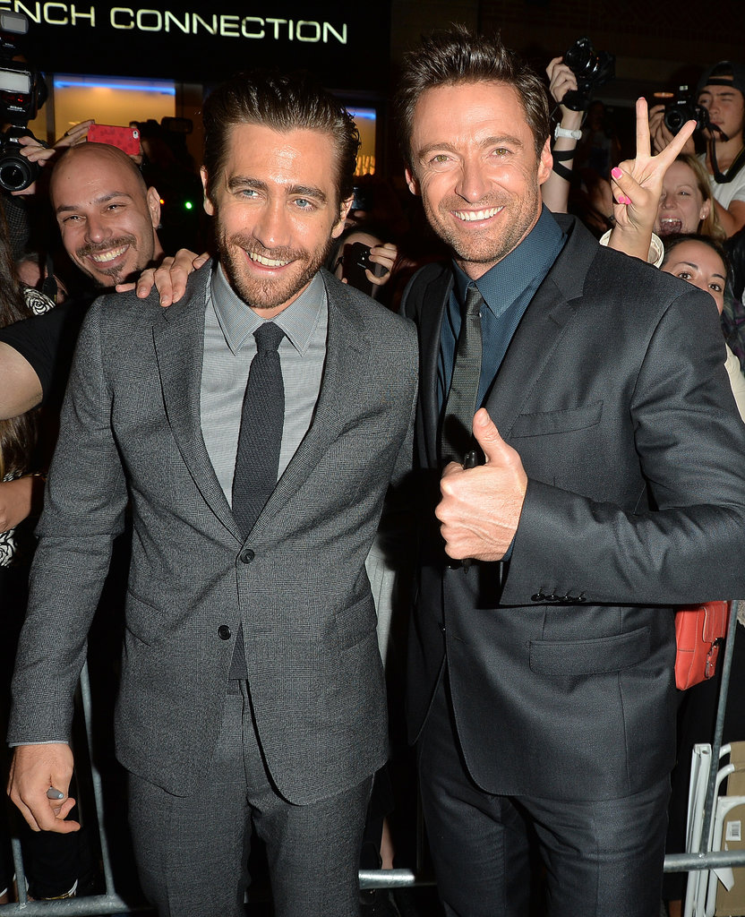 Jake Gyllenhaal and Hugh Jackman took some photos.