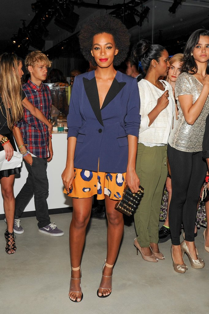 Solange Knowles was also there, wearing a pair of shorts and a blazer from the collabor