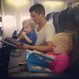 "Neil Patrick Harris joked that Gideon and Harper joined the ""mile high book club"" during their plane trip.  Source: Instagram user instagranph"