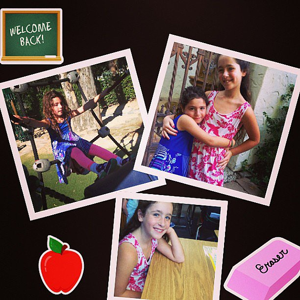 Poet and Jagger Goldberg celebrated the first day of school. Source: Instagram user moonfrye
