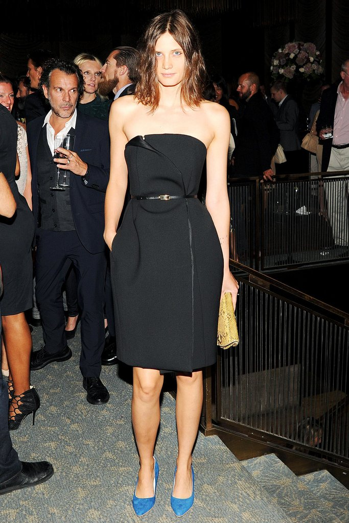 Drake Burnett let her shoes do the talking at the WSJ Magazine anniversary bash.