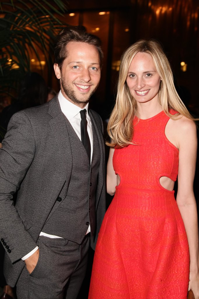 Derek Blasberg had a hot date in a scarlet-clad Lauren Santo Domingo at the WSJ Magazine bash.