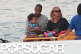 Beyoncé and Jay Z took a boat ride with Blue Ivy during their family yacht vacation in the Mediterranean Sea.