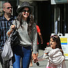 Katie Holmes and Suri Cruise With a Cast | Photos