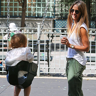Jessica Alba at the Park With Daughter Haven in NYC