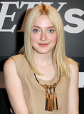 Dakota Fanning styled her long bob sleek and straight for her appearance at the Variety Studio at the Toronto Film Festival.