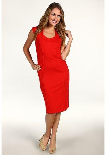 Anne Klein - Sleeveless Dress w/ Princess Seams (Poppy Red) - Apparel