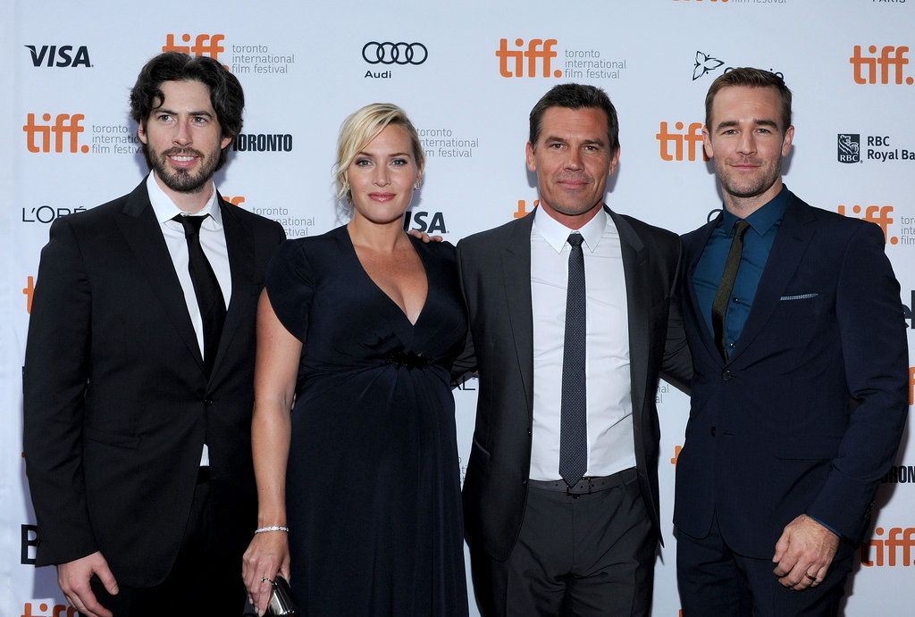 Kate Winslet posed with her costars and director Jason Reitman on the red carpet.