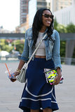 Shiona Turini proved two bags are way better than one.
