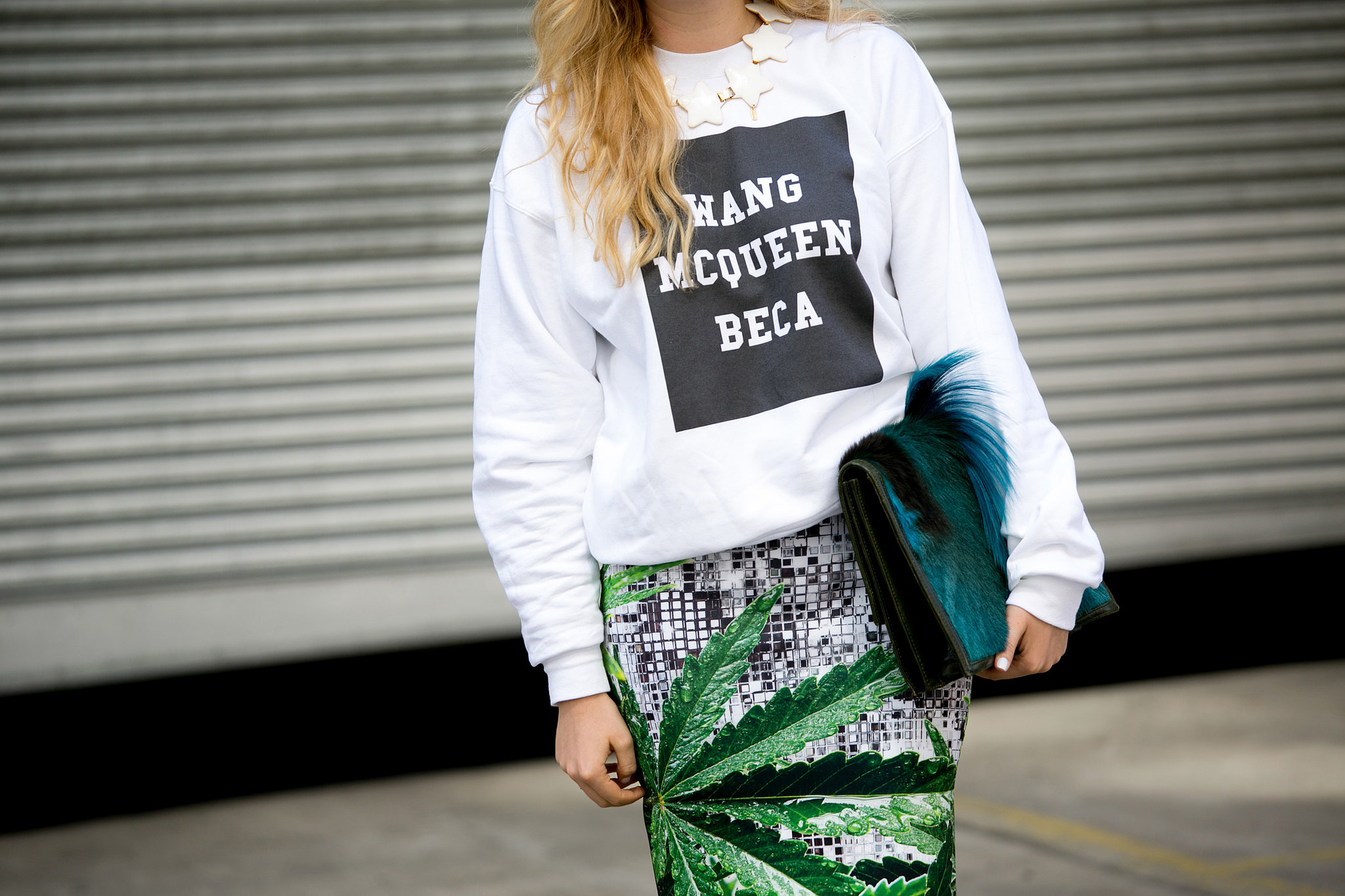 Very apropos Fashion Week gear, no?