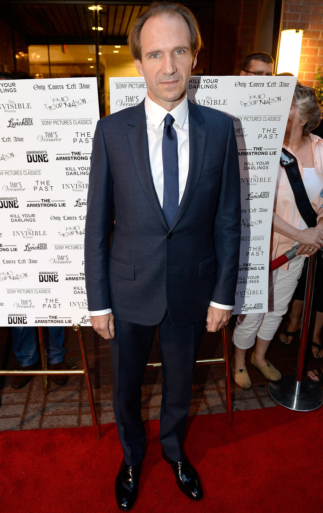 Ralph Fiennes popped up at the Sony Pictures Classics cast dinner.