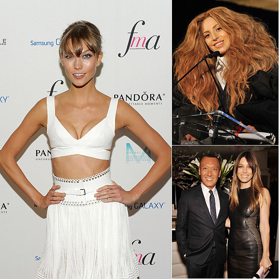 Karlie Kloss, Jessica Biel and Lady Gaga at the Fashion Media Awards