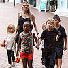 Angelina Jolie and Her Kids at the Sydney Aquarium