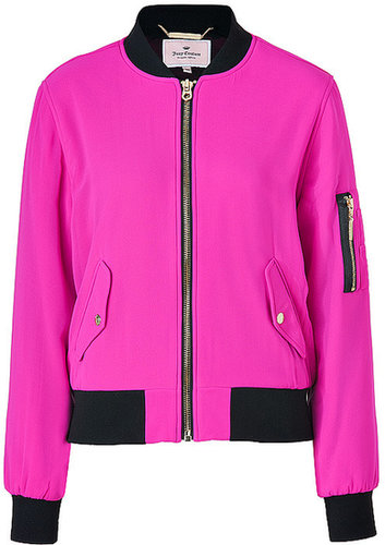 JUICY COUTURE Pink Cerise Georgette Bomber Jacket
