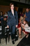 Coco Rocha borrowed from the boys in a sleek suit at the Elle Fashion Next show.