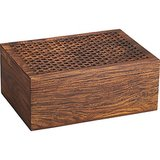 Keep small items within arm's reach while staying rustically cool with this Honeycomb Wood Box ($80).