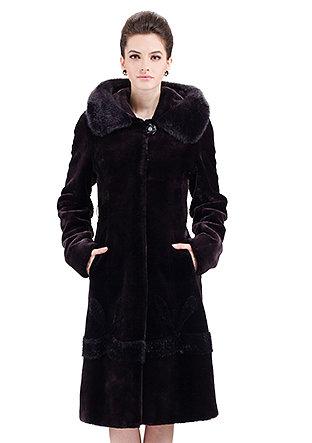 Romantic princess/faux purple mink cashmere/long fur coat - New Products