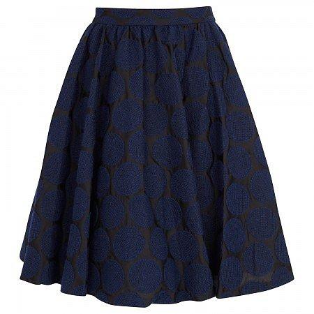alice and olivia Julie polka dot embroidered cotton skirt