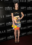 Hailee Steinfeld teamed a Mary Katrantzou pencil skirt with a cute t-shirt at a party hosted by Elle in 2012.