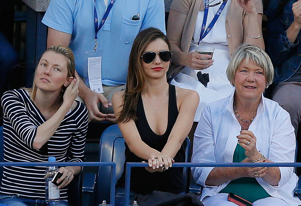 Miranda Kerr watched the women's singles finals.