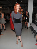 Karen Elson worked her curves for Zac Posen's runway show.