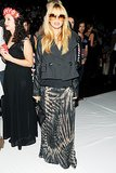 Rachel Zoe went bohemian in tie-dye for the DVF runway show.