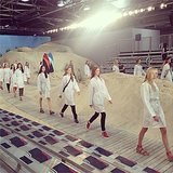 The models played in the sand at Tommy Hilfiger. Source: Instagram user tommyhilfiger
