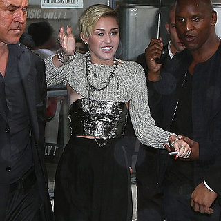 Miley Cyrus Wearing Crop Top in Paris