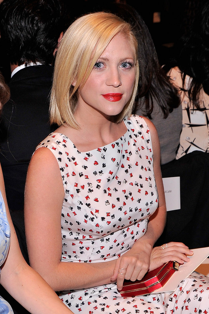 A side part looks darling paired with Brittany Snow's straight hair.