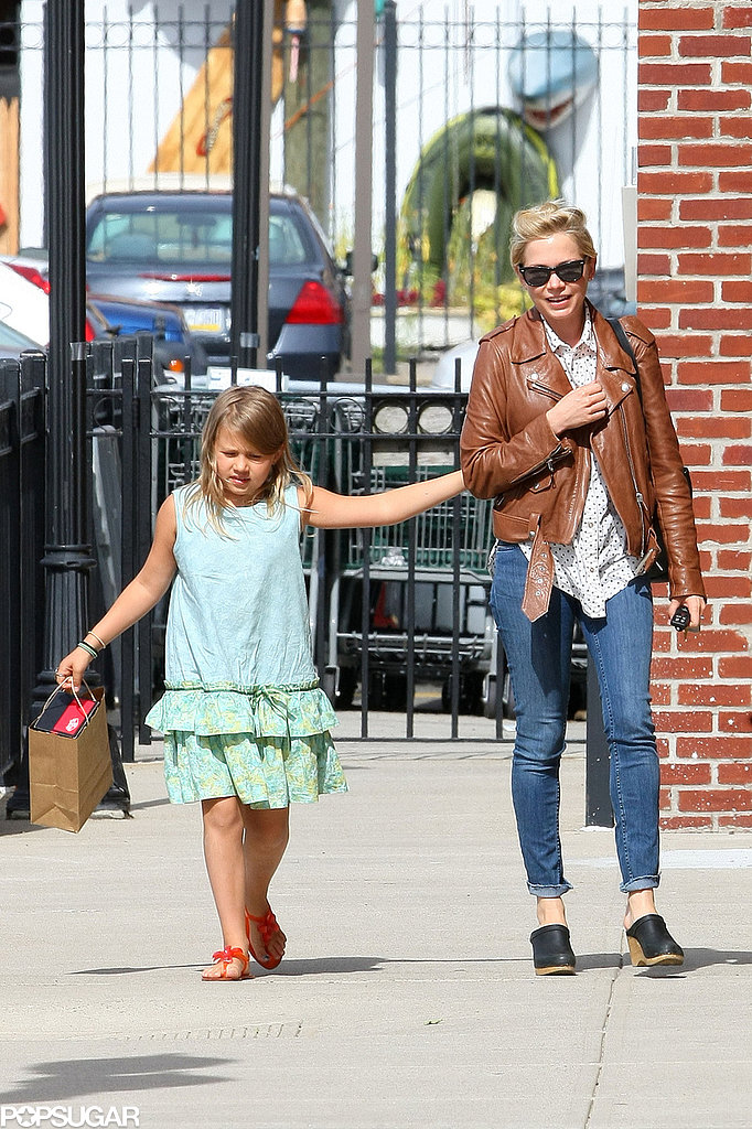 Michelle Williams and Matilda Ledger held hands as they went shopping.